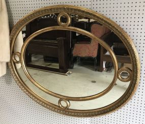 New Gold Gilt Oval Wall Mirror