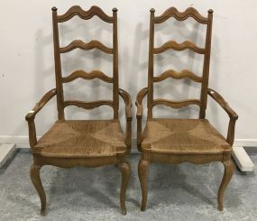 Pair of Country French Style Arm Chairs
