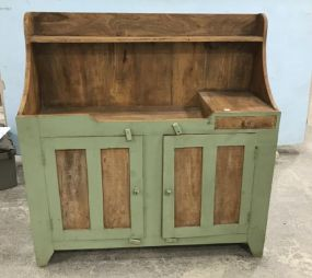 Primitive Style Painted Dry Sink Cabinet