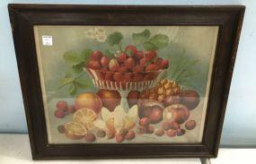 Framed 1898 Jos & Sons Fruit Print