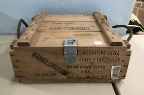 Wooden Military Explosives Box