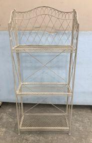 White Painted Metal Storage Rack