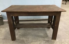 Antique Primitive Style Library Table