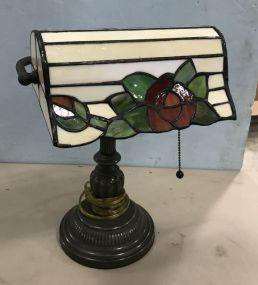 New Reproduction Slag Glass Desk Lamp