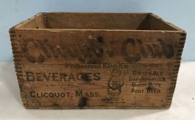 Vintage Clicquot Club Beverage Crate