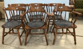 Six Tell City Dinning Chairs