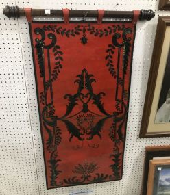 Hand Painted Leather Wall Decor Panel