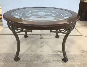 Large Modern Cherry Round Dinning Table
