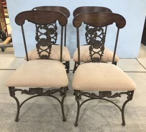 Four Modern Cherry Dinning Chairs