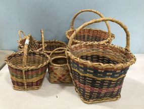 Group of Hand Woven Baskets