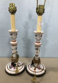 Pair of Meissen Style Table Lamps