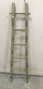 Hand Painted Bamboo Style Ladder Decor