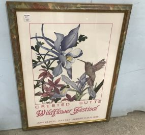 Crested Butte Wildflower Festival Artist Signed Print