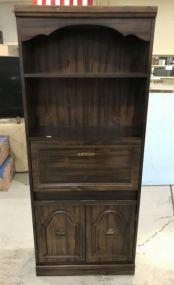 Pressed Wood Bookshelf Secretary