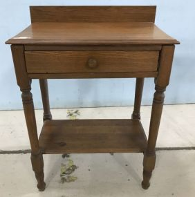 Mahogany Single Drawer Wall Console Table