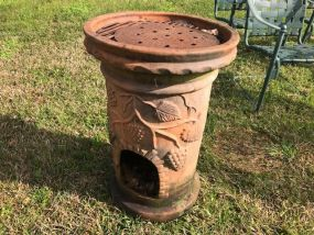 Outdoor Terra Cotta Chiminea