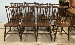 Eight Windsor Style Chairs