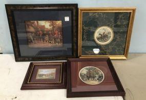 Group of Hunting Scene Prints