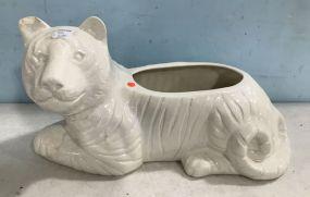 Ceramic White Tiger Planter