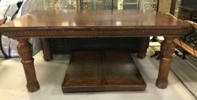 Ornate Oak Dinning Table