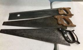 Three Vintage Hand Saws