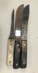 Two Old Hickory Knifes and Fillet Knife