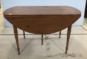 Vintage Pine Drop Leaf Dinning Table