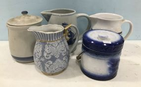Group of Stoneware Pottery
