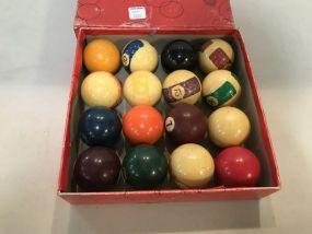 Vintage Pool Ball Set
