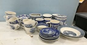 Group of Blue and White Pottery