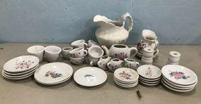 Group of Small Child's Porcelain Tea Set