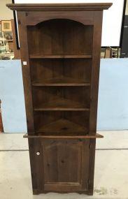 1970's Pine Corner Cabinet