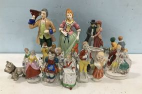 Group of Porcelain Occupied Japan Figurines