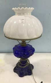 Cobalt Blue Globe Lamp