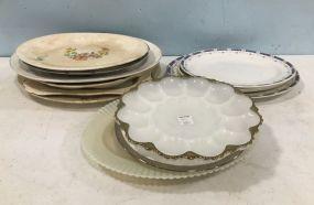 Large Group of Porcelain Platters