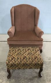 Best Chair Company Queen Anne Chair and Ottoman