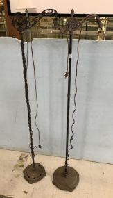 Pair of Antique Metal Floor Lamps