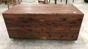 Vintage Cedar Storage Trunk