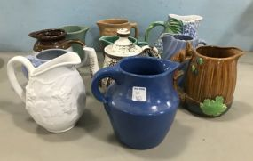 Group of Pottery and Ceramic Pitchers