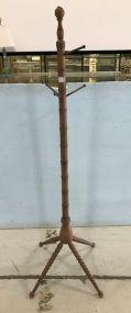 Vintage Wood Hat Rack Stand