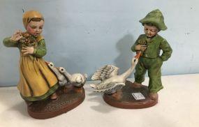 Holland Ceramic Boy and Girl Figurines