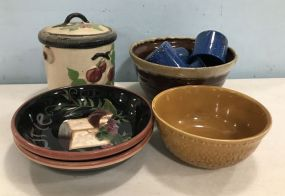 Group of Pottery Bowls and Jars