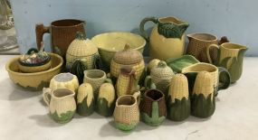 Collection of Corn Ceramic Pottery Pieces