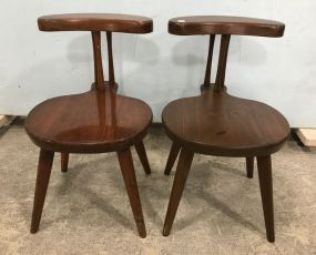 Pair of William Femer Primitive Style Chairs