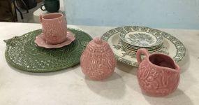 Bordallo Pinheiro Pottery and Porcelain Plates