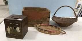 Baskets, Wood Crate, and Containers