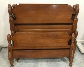 Pair of Maple Early American Style Twin Beds