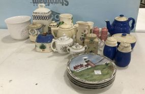 Group of Porcelain and Ceramic Pottery Pieces