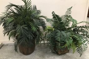 Two Artificial Plants in Pot