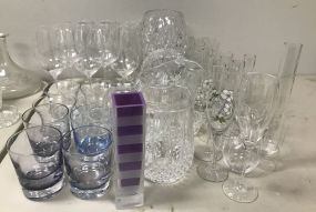 Group of Clear Glassware Pieces